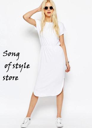 Asos приталенное платье‑футболка миди