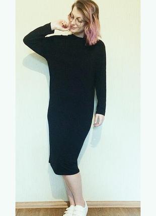 Супер стильное лаконичное черное платье