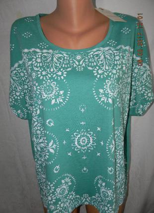 Блуза - футболка с принтом большого размера