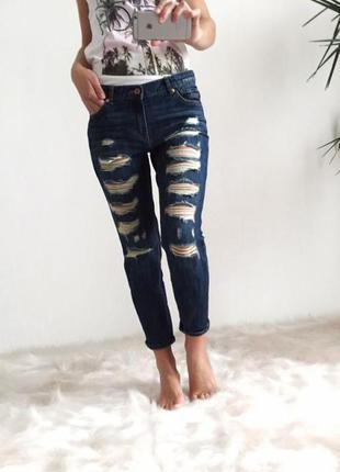 Крутые джинсы бойфренды mango
