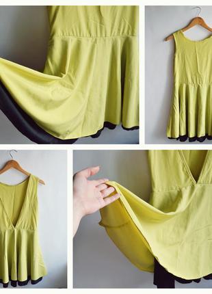Платье с открытой v-образной спинкой h&m zara asos