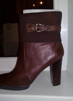 Nina west новые кожаные ботинки деми