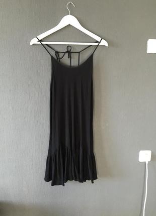 Платье туника майка черная zara голая спина