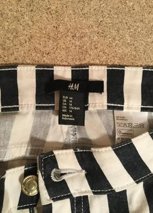 Актуальные полосатые  джинсы в полоску h&m