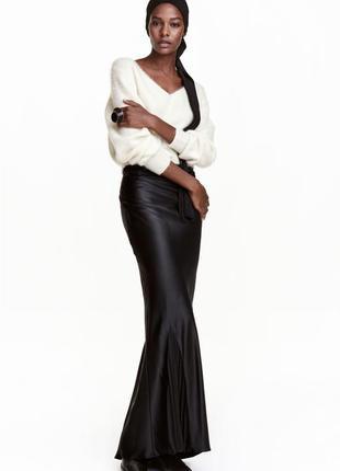 Шелковая юбка в пол h&m studio швеция с бирками