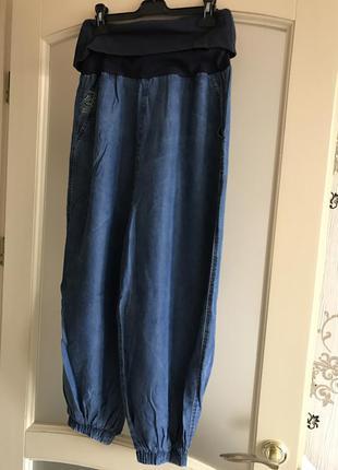 Широкие джинсы-шаровары летние