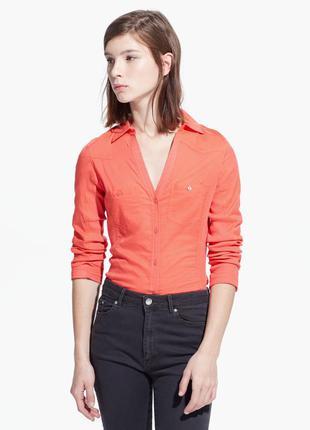 Рубашка кораллового цвета s (на ог 84-86 см), mango