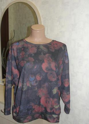 Красивый пуловер с цветочным рисунком на ог 92-95 см, германия