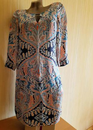 Обалденное платье-футляр 42-44р нат. шёлк