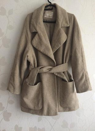 Шерстяне пальто бойфренд з поясом dorothy perkihs