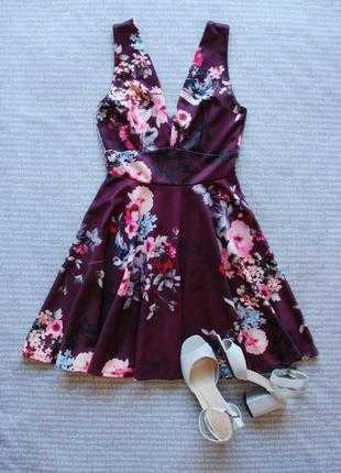 Платье сарафан марсала вырез мыс asos купить цена