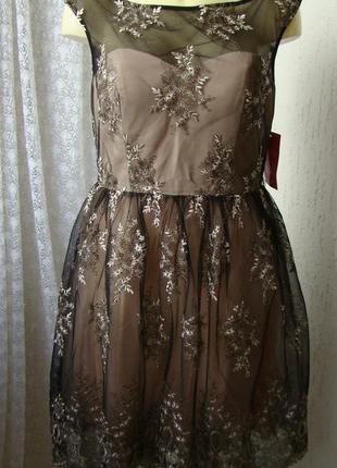 Платье вечернее гипюр little mistress р.48 №7479