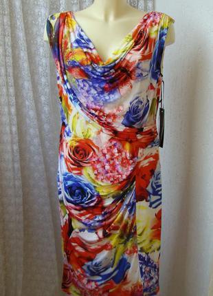 Платье летнее красивое стрейч vera mont р.50 №7480