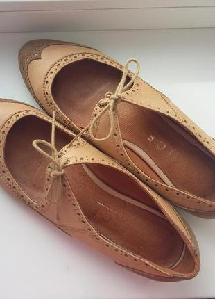 Туфли/туфли оксфорды на низком ходу из нубука/кожа марки office