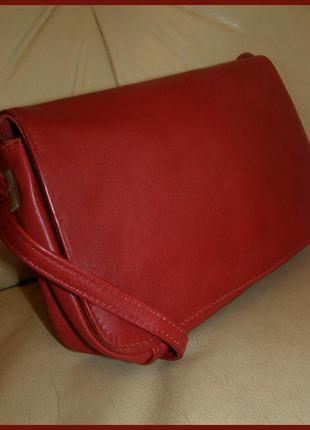 Стильная кожаная сумка на плечо – натуральная кожа  - англия