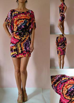 Яркое облегающее платье (xs-s)