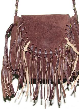 Красивая модная замшевая сумка  crossbody ~topshop~ индия