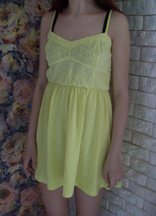 Лимонное платье сарафан от atm pp.s-m