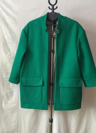 Новое актуальное легкое пальто бойфренд oversize
