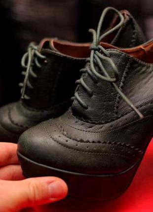 Крутые туфли-броги оксфорды, ботильоны,ботинки изумрудные,зеленые польша под atmosphere