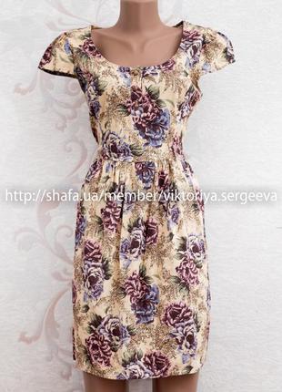 Новое цветочное нежное весеннее платье миди