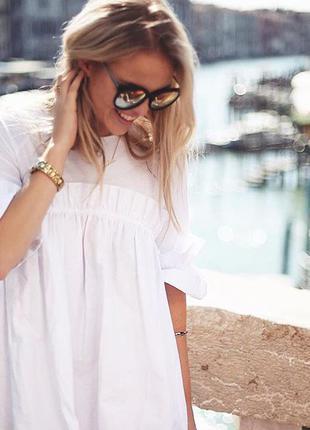 Asos white платье с рюшами