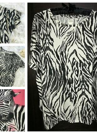 Топ в принт зебру от h&m conscious collection 44-48 размер