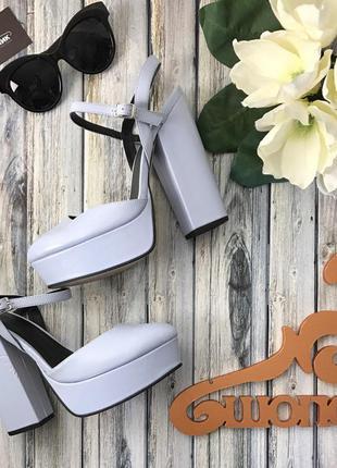 Нереальные туфли «мери-джейн» на толстом каблуке в пастельной гамме      sh1277  asos