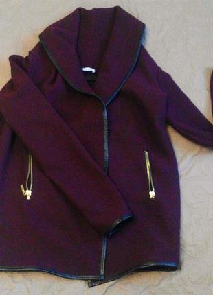 Шикарный кардиган пальто марсала бордо pimkie