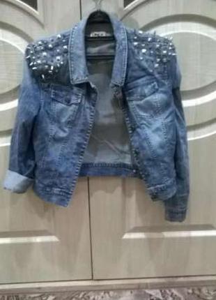 Куртка, пиджак, джинс, стильная с шипами only