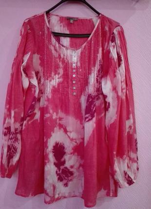 Очень красивая блуза большого размера с принтом
