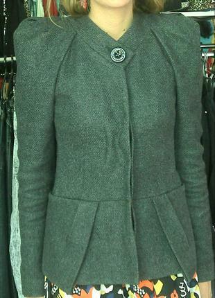 Пиджак из пальтовой ткани
