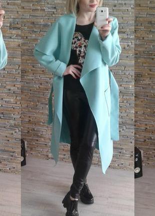 Пальто,  кардиган,  пальто-халат,  пальто на запах ,  актуальное в этом сезоне