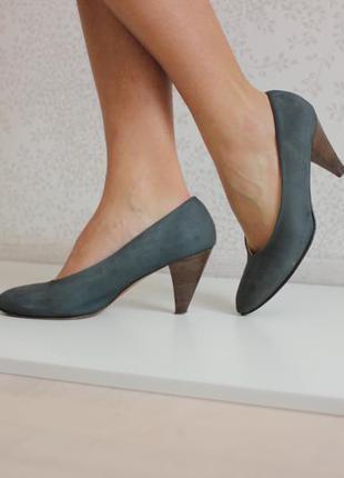 Кожаные туфли натуральная кожа полностью нубук, бренд next