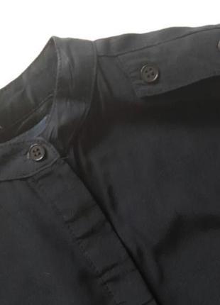 Удлиненная блуза рубашка с погонами