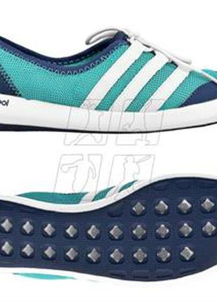 Сине-бирюзовые кеды мокасины adidas climacool