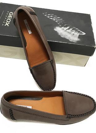 Кожаные мокасины туфли geox оригинал из сша
