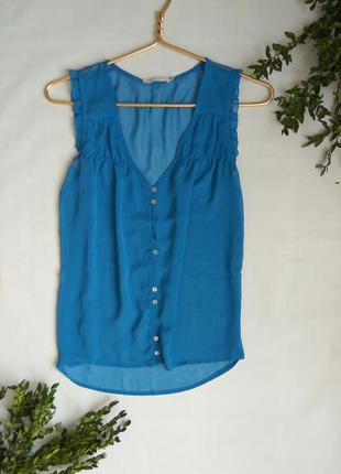 Блуза от only голубого цвета