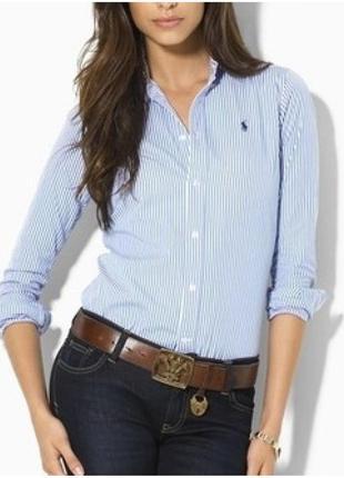 Большой выбор базовых джемперов рубашек/ актуальная рубашка в голубую полоску