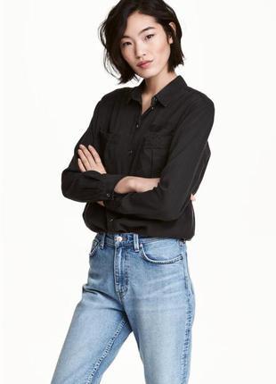 Большой выбор базовых джемперов рубашек/ стильная рубашка чёрного цвета