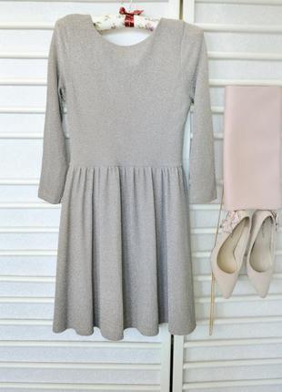 Красивое платье с напылением topshop