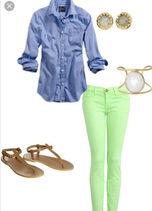 Модные салатовые скини(джинсы, штаны). рр м.