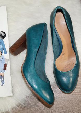 (41р./27см) clarks! кожа! красивые туфли