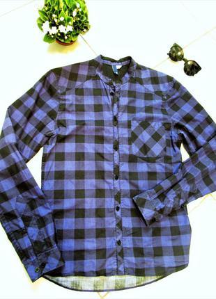 Річ поза часом!!! стильна сорочка в клітинку від h&m