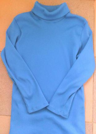 Гольф женский насыщенно голубого цвета! абсолютно новый!