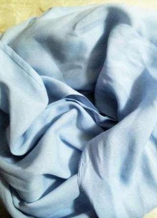 Красивый женский палантин нежно-голубого цвета!