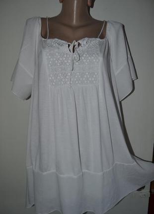 Большой выбор блузок и рубашек разных размеров блузка -туника вискоза