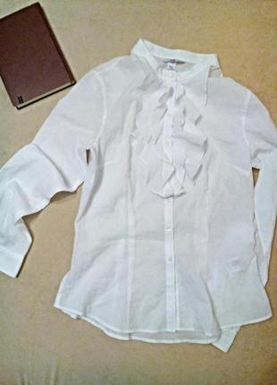 Блуза с воланом, жабо