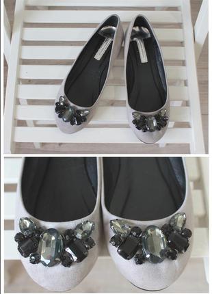 Очень стильные балетки, лодочки, туфли с камнями dorothy perkins