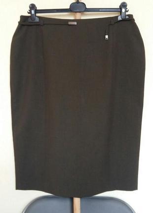 Доступно - классическая юбка с красивым пояском *marks&spencer* 16 р.